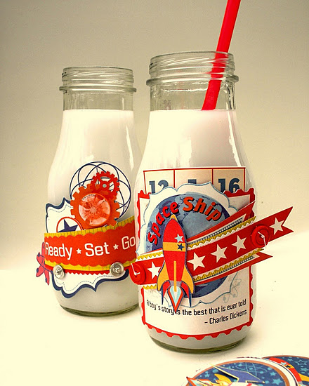 Sandy milk bottles